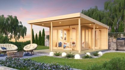 Light-filled garden office with a terrace KENO 44 5.2 m x 6.5 m (17'1'' x 21'4'') 44 mm