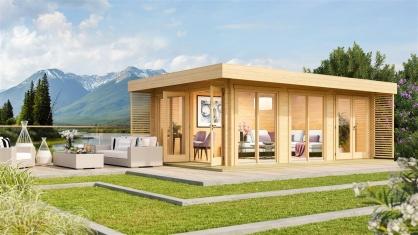 Cosy and stylish garden office  LISA B 44 | 6.6 x 4.7 m ( 21'8'' X 15'6'') 44mm