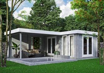 Luxurious garden annexe Luisa 44 | 6.8 x 4.8 m (22'4'' x 15'9'') 44 mm