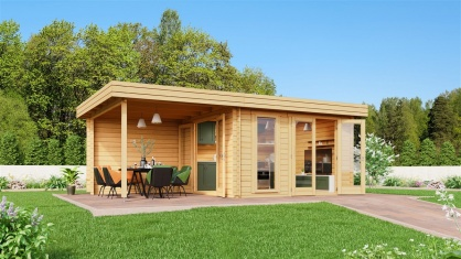 Ultimate Garden Shed Ronya 44  | 6.5m x 3.8m (21' 4'' x 12' 6'') 44mm